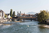 A view of the Spreuerbrücke, Lucerne, Switzerland