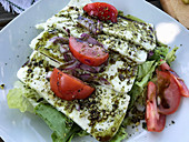 Styrian sheep's cheese salad with pumpkin seed oil