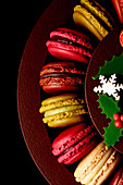 Various macaroons for Christmas