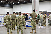 Emergency field hospital for covid-19 patients, USA