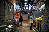 Boqueria Market, Barcelona, Spain, during Covid-19 outbreak