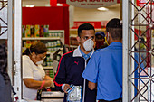 Supermarket shopping during the Covid-19 outbreak