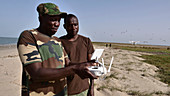Scientists using drone to check Caspian tern nests