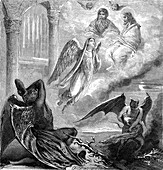 The daughter of the devil, 19th century illustration