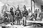 Turkish men, 19th century illustration