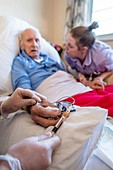 Male care home resident blood test