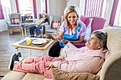 Assisted eating in care home