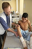 IED attack victim, Afghanistan