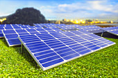 Solar farm, illustration