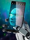 AI selfie, illustration