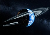 Earth with a ring, illustration