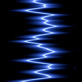 Wavy blue lines, illustration