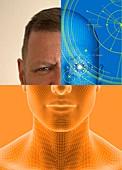Facial recognition, illustration