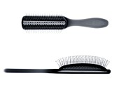 Two hairbrushes, X-ray