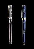 Two fountain pens, X-ray