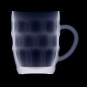 British pint mug, X-ray
