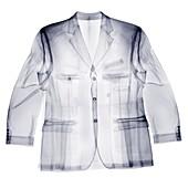 A man's jacket, X-ray