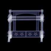 Doll's house towel rail, X-ray