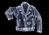 Leather biker's jacket, X-ray