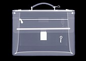 Briefcase with key, X-ray