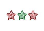 Three decorative stars in a row, X-ray