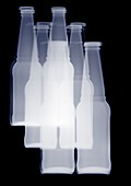 Montage of drink bottles, X-ray