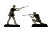 Civil war toy soldiers, X-ray
