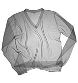 Diamond patterned V-neck jumper, X-ray