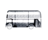 Toy double decker bus, X-ray