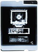 Film of personal computer and keyboard, X-ray