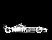 Toy F1 formula one race car, X-ray