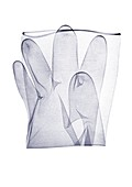 Folded disposable glove, X-ray