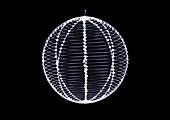 Metal sphere ornament, X-ray