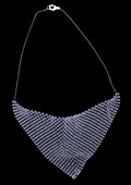 Chain mail necklace, X-ray