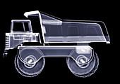 Toy dump truck, X-ray