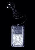 Portable music player, X-ray