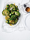 Charred broccoli with miso dressing