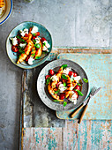 Caprese-Salat mit gegrillter Melone
