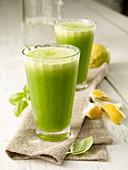 Lemon and basil lemonade