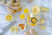 Lemon shot with ginger and turmeric