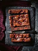 Raspberry buttermilk brownies