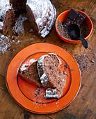 Quark Bundt cake with chocolate