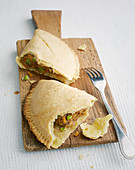vegetables and minced meat pasties