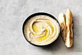 Vegan bean and lemon dip