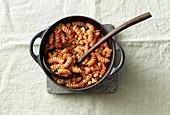 Vegan chickpea and pasta stew
