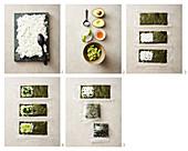 Onigirazu mit Avocado und Dillspinat zubereiten