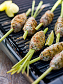 Grilled lemongrass skewers with trout