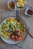 Waldorf salad with cranberries and apples