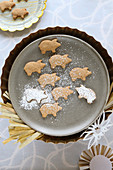 Homemade, gluten-free New Year's Eve pig biscuits