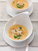 Lobster soup with roasted cauliflower